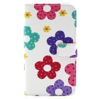 Obrázkové koženkové pouzdro na mobil LG G3 - malované květiny - 1/4
