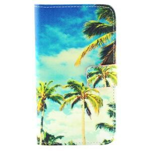 Obrázkové koženkové pouzdro na mobil LG G3 - palmy - 1