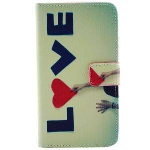 Obrázkové koženkové pouzdro na mobil LG G3 - love - 1