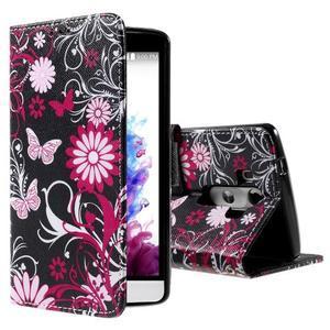 Motive koženkové pouzdro na LG G3 - kouzlení motýlci - 1