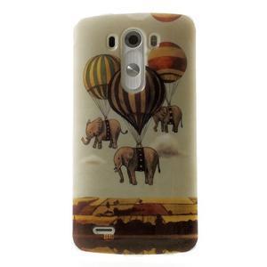 Gelový kryt na mobil LG G3 - sloni - 1