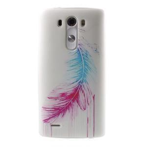 Silks gelový obal na mobil LG G3 - peříčko - 1