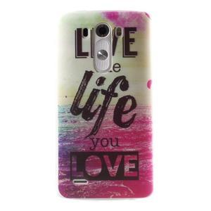 Silks gelový obal na mobil LG G3 - love - 1