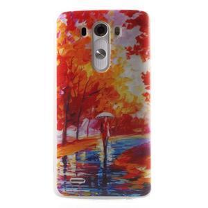 Silks gelový obal na mobil LG G3 - podzimní malba - 1