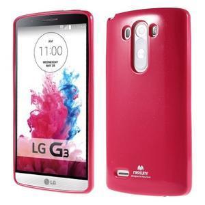 Odolný gelový obal na mobil LG G3 - rose - 1