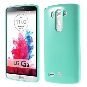 Odolný gelový obal na mobil LG G3 - cyan - 1