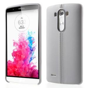 Lines gelový kryt na mobil LG G3 - šedý - 1