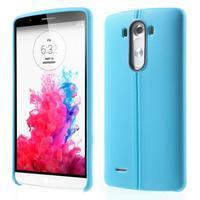 Lines gelový kryt na mobil LG G3 - modrý - 1/6
