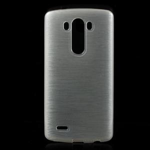 Brush gelový obal na LG G3 - bílý - 1