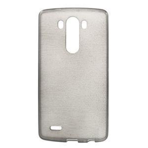 Brush gelový obal na LG G3 - šedý - 1