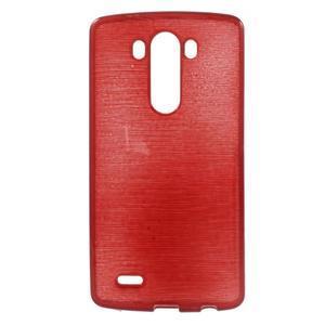 Brush gelový obal na LG G3 - červený - 1