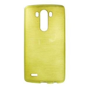 Brush gelový obal na LG G3 - zelený - 1