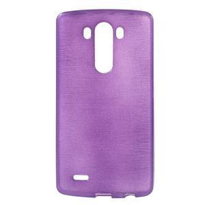 Brush gelový obal na LG G3 - fialový - 1