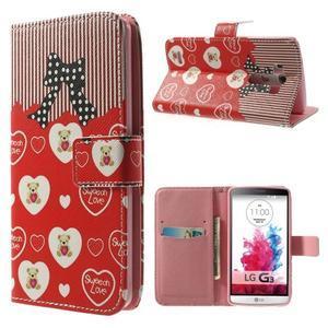 Obrázkové pouzdro na mobil LG G3 - zamilovaný medvídek - 1