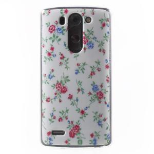 Gelový obal na LG G3 s - kytičky - 1