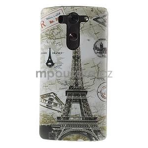 Ultra slim 0.6 mm gelový obal LG G3 s - Eiffelova věž - 1