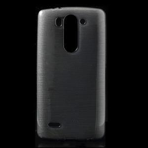 Broušený gelový obal na LG G3 s - šedý - 1