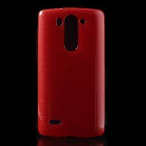 Broušený gelový obal na LG G3 s - červený - 1