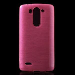 Broušený gelový obal na LG G3 s - rose - 1