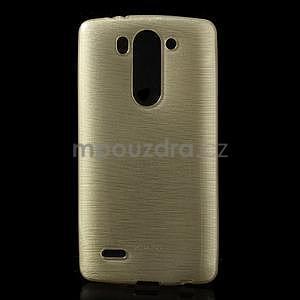Broušený gelový obal na LG G3 s - zlatý - 1