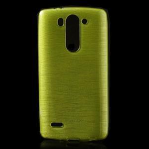 Broušený gelový obal na LG G3 s - zelený - 1