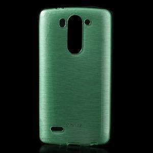 Broušený gelový obal na LG G3 s - azurový - 1