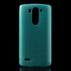 Broušený gelový obal na LG G3 s - tyrkysový - 1