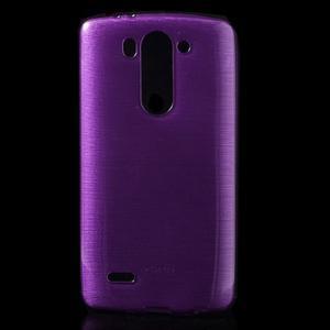 Broušený gelový obal na LG G3 s - fialový - 1