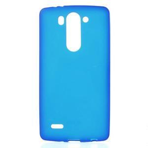 Modrý matný gelový kryt LG G3 s - 1
