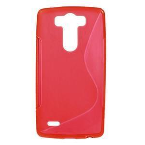 S-line červený gelový obal na LG G3 s - 1