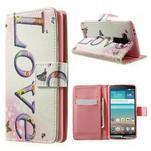 Zapínací peněženkové pouzdro pro LG G3 s - love - 1/7