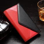 Enlop peněženkové pouzdro na LG G4 - červené/černé - 1/3