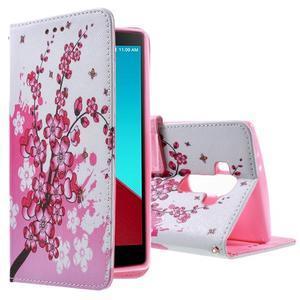 Call peněženkové pouzdro na LG G4 - kvetoucí větvička - 1