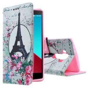 Call peněženkové pouzdro na LG G4 - Eiffelova věž - 1