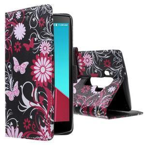 Call peněženkové pouzdro na LG G4 - kouzelní motýlci - 1