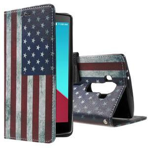 Call peněženkové pouzdro na LG G4 - US vlajka - 1