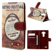 Koženkové pouzdro na mobil LG G4 - retro festival - 1/7