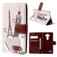 Koženkové pouzdro na mobil LG G4 - Eiffelka a Big Ben - 1/7