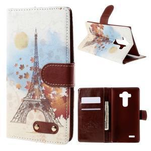 Koženkové pouzdro na mobil LG G4 - Eiffelova věž - 1