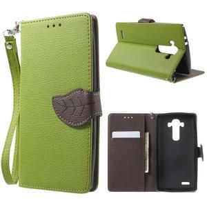 Leaf peněženkové pouzdro na mobil LG G4 - zelené - 1