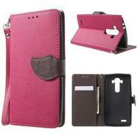 Leaf peněženkové pouzdro na mobil LG G4 - rose - 1/7
