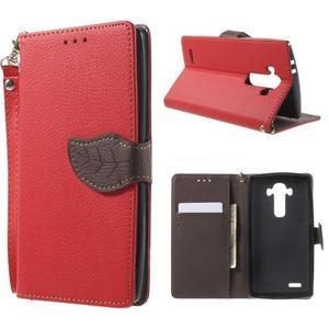 Leaf peněženkové pouzdro na mobil LG G4 - červené - 1