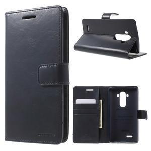 Luxury PU kožené pouzdro na mobil LG G4 - tmavěmodré - 1