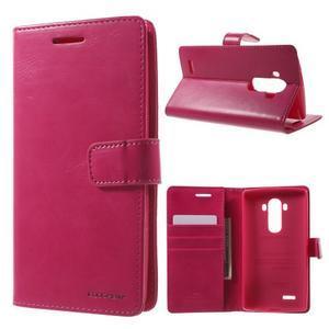 Luxury PU kožené pouzdro na mobil LG G4 - rose - 1