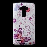 Softy gelový obal na mobil LG G4 - motýlek - 1/5