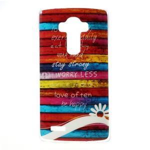 Jells gelový obal na mobil LG G4 - barvy dřeva - 1