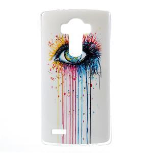 Jells gelový obal na mobil LG G4 - barevné oko - 1