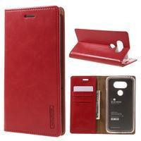Luxury PU kožené pouzdro na mobil LG G5 - červené - 1/7