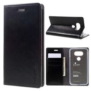 Luxury PU kožené pouzdro na mobil LG G5 - černé - 1