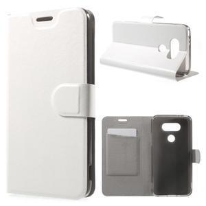 Horse PU kožené peněženkové pouzdro na LG G5 - bílé - 1